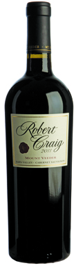 Robert Craig, Cabernet Sauvignon, Napa Valley, Mt Veeder