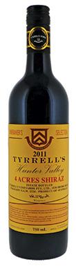 Tyrrell's, 4 Acres Shiraz, Hunter Valley, 2011