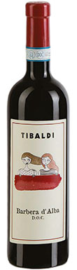 Tibaldi, Barbera d'Alba, Barbera d'Asti, Piedmont, 2018