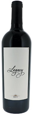Legacy, Red Wine, Sonoma County, Alexander Valley, 2014