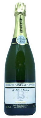 Bluebell Vineyard Estates, Sussex, Hindleap Blanc de Blancs,
