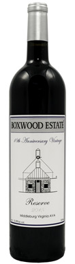 Boxwood Estate Winery, Reserve, Middleburg, Virginia, 2015