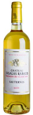 Château Sigalas Rabaud, Sauternes, 1er Cru Classé, 2011