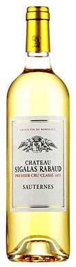 Château Sigalas-Rabaud, Sauternes, 1er Cru Classé, 2016