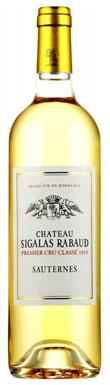 Château Sigalas Rabaud, Sauternes, 1er Cru Classé, 2015