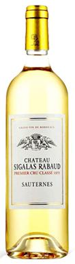 Château Sigalas Rabaud, Sauternes, 1er Cru Classé, 2019