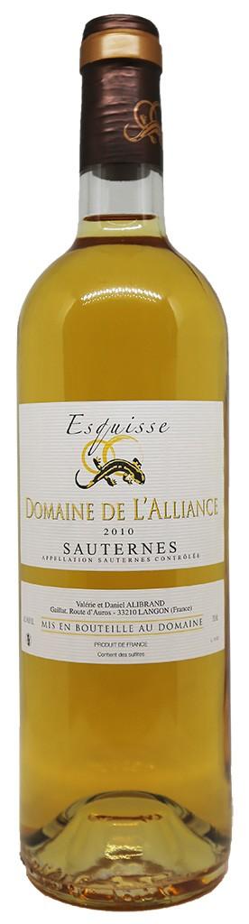Domaine de L'Alliance, Esquisse, Sauternes, Bordeaux, 2019