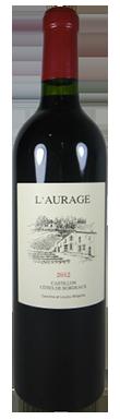 Domaine De L'Aurage, Castillon Côtes de Bordeaux, 2015