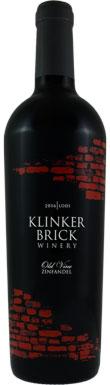 Klinker Brick, Old Vine Zinfandel, Lodi, California, 2016