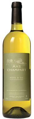 Mas Champart, Pays d'Oc, Blanc, Languedoc-Roussillon, 2015