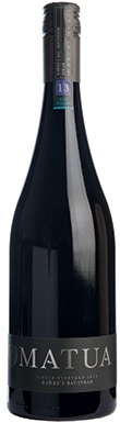 Matua, Single Vineyard Syrah, Gimblett Gravels, 2013