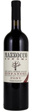 Mazzocco, Sonoma, Dry Creek Valley, Pony Reserve, 2015