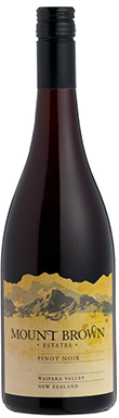 Mount Brown, Pinot Noir, Canterbury, New Zealand, 2014