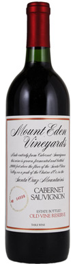 Mount Eden Vineyards, Old Vine Reserve Cabernet Sauvignon