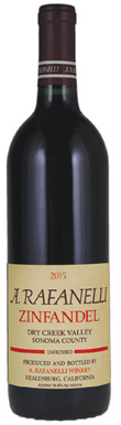 A. Rafanelli, Sonoma, Dry Creek Valley, Zinfandel, 2015