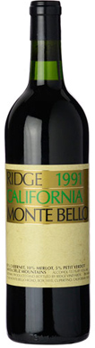 Ridge Vineyards, Santa Cruz Mountains, Monte Bello, 1991