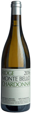 Ridge Vineyards, Monte Bello Chardonnay, San Francisco Bay