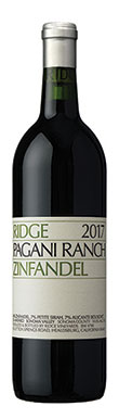 Ridge Vineyards, Pagani Ranch, Sonoma County, Sonoma Valley