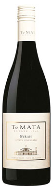 Te Mata, Estate Syrah, Hawke's Bay, New Zealand, 2015
