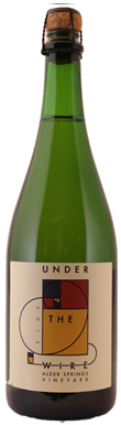 Under The Wire, Alder Springs Vineyard Sparkling Chardonnay