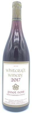 Whitcraft, Pinot Noir, Santa Barbara County, 2017